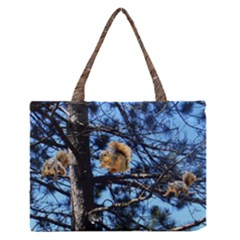 Squirrels And Friends In Tree Medium Zipper Tote Bag
