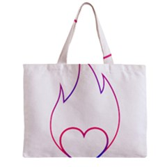 Heart Flame Logo Emblem Mini Tote Bag