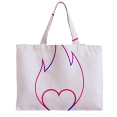 Heart Flame Logo Emblem Medium Tote Bag by Nexatart