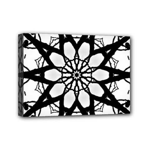 Pattern Abstract Fractal Mini Canvas 7  X 5