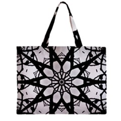 Pattern Abstract Fractal Zipper Mini Tote Bag