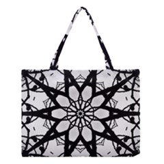 Pattern Abstract Fractal Medium Tote Bag by Nexatart