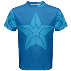 Star Design Pattern Texture Sign Men s Cotton Tee