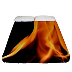 Fire Flame Pillar Of Fire Heat Fitted Sheet (queen Size) by Nexatart