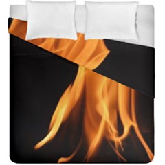 Fire Flame Pillar Of Fire Heat Duvet Cover Double Side (king Size) by Nexatart