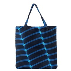 Background Light Glow Blue Grocery Tote Bag by Nexatart