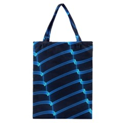 Background Light Glow Blue Classic Tote Bag by Nexatart