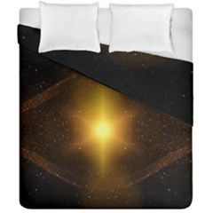 Background Christmas Star Advent Duvet Cover Double Side (california King Size) by Nexatart