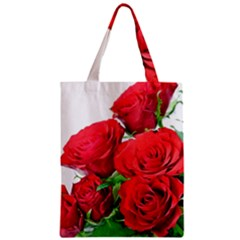 A Bouquet Of Roses On A White Background Zipper Classic Tote Bag by Nexatart