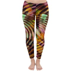 Wave Rings Circle Abstract Classic Winter Leggings by Nexatart