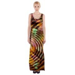 Wave Rings Circle Abstract Maxi Thigh Split Dress