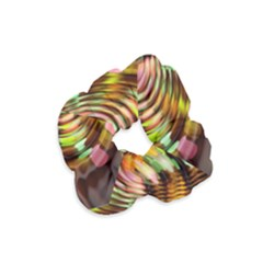 Wave Rings Circle Abstract Velvet Scrunchie