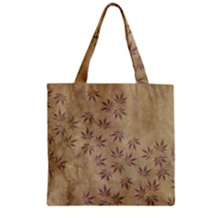 Parchment Paper Old Leaves Leaf Zipper Grocery Tote Bag by Nexatart
