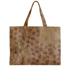 Parchment Paper Old Leaves Leaf Zipper Mini Tote Bag by Nexatart