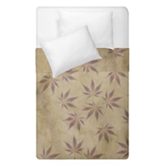 Parchment Paper Old Leaves Leaf Duvet Cover Double Side (single Size) by Nexatart