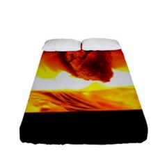 Fire Rays Mystical Burn Atmosphere Fitted Sheet (full/ Double Size)