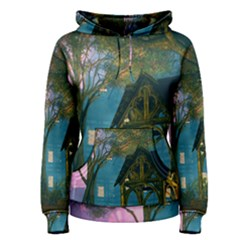 Background Forest Trees Nature Women s Pullover Hoodie