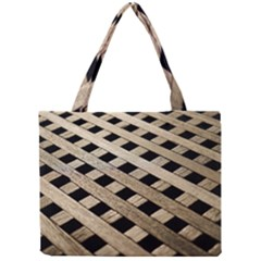 Texture Wood Flooring Brown Macro Mini Tote Bag