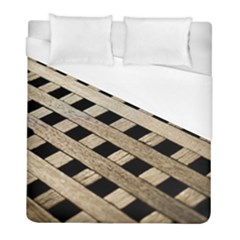 Texture Wood Flooring Brown Macro Duvet Cover (full/ Double Size) by Nexatart