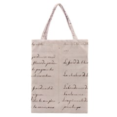 German French Lecture Writing Classic Tote Bag by Nexatart