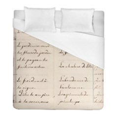 German French Lecture Writing Duvet Cover (full/ Double Size)