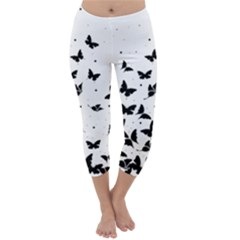Butterfly Pattern Capri Winter Leggings