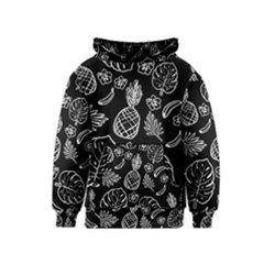 Tropical Pattern Kids  Pullover Hoodie by Valentinaart