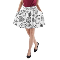 Tropical Pattern A Line Pocket Skirt by Valentinaart