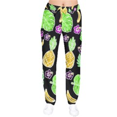 Tropical Pattern Drawstring Pants by Valentinaart