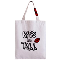 Kiss And Tell Zipper Classic Tote Bag by Valentinaart