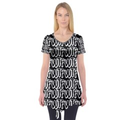 Wtf Short Sleeve Tunic  by Valentinaart