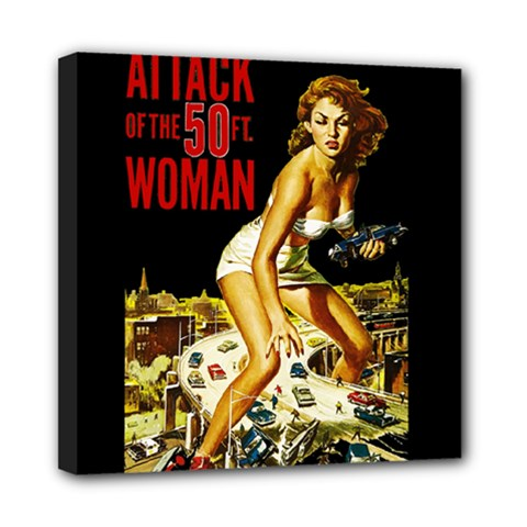 Attack Of The 50 Ft Woman Mini Canvas 8  X 8  by Valentinaart