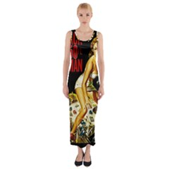 Attack Of The 50 Ft Woman Fitted Maxi Dress
