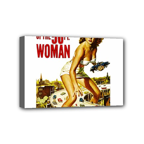 Attack Of The 50 Ft Woman Mini Canvas 6  X 4  by Valentinaart