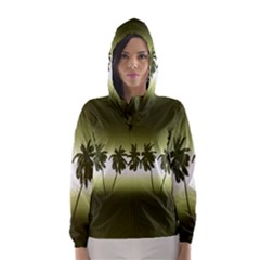 Tropical Sunset Hooded Wind Breaker (women)