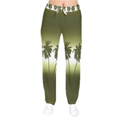Tropical Sunset Drawstring Pants by Valentinaart