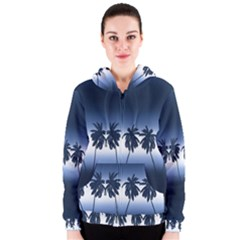 Tropical Sunset Women s Zipper Hoodie by Valentinaart