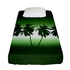 Tropical Sunset Fitted Sheet (single Size)