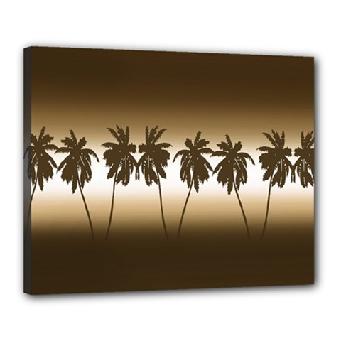 Tropical Sunset Canvas 20  X 16  by Valentinaart