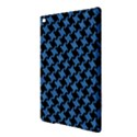 HOUNDSTOOTH2 BLACK MARBLE & BLUE COLORED PENCIL Apple iPad Air 2 Hardshell Case View3