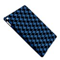 HOUNDSTOOTH2 BLACK MARBLE & BLUE COLORED PENCIL Apple iPad Air 2 Hardshell Case View5