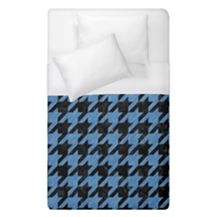 Houndstooth1 Black Marble & Blue Colored Pencil Duvet Cover (single Size) by trendistuff
