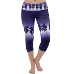 Tropical Sunset Capri Yoga Leggings by Valentinaart