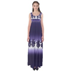 Tropical Sunset Empire Waist Maxi Dress