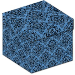 Damask1 Black Marble & Blue Colored Pencil (r) Storage Stool 12  by trendistuff