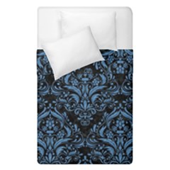 Damask1 Black Marble & Blue Colored Pencil Duvet Cover Double Side (single Size) by trendistuff