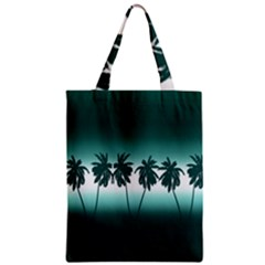 Tropical Sunset Zipper Classic Tote Bag by Valentinaart