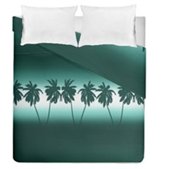 Tropical Sunset Duvet Cover Double Side (queen Size) by Valentinaart