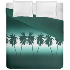 Tropical Sunset Duvet Cover Double Side (california King Size) by Valentinaart