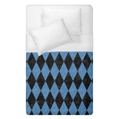 Diamond1 Black Marble & Blue Colored Pencil Duvet Cover (single Size) by trendistuff